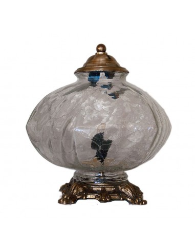 Λάμπα σαλονιού με κρακελέ γυαλί