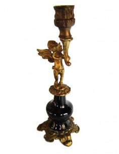Κηροπήγιο μπρούτζινο χειροποίητο με θέσεις για δύο κεριά